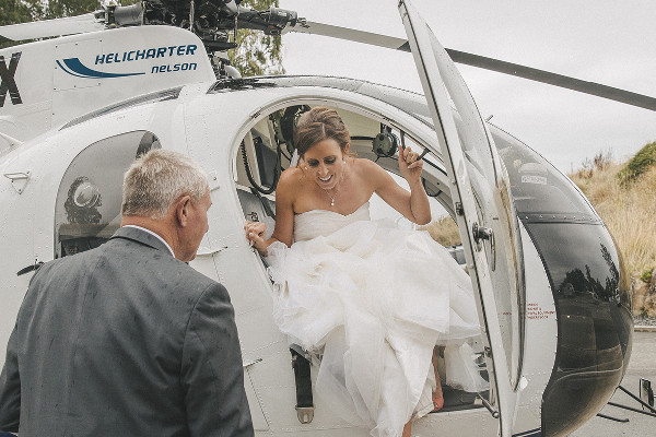 Arrive at your engagement, anniversary or wedding in style and on time with Helicharter Nelson